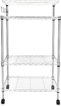 Lovinland 4Tier Kitchen Bakers Rack Microwave Oven Stand Storage Cart