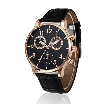 Toamen Relojes Hombres, Reloj De Pulsera De Cuarzo De AleacióN AnalóGica De Cuero De DiseñO Retro (A1): Amazon.es: Deportes y aire libre