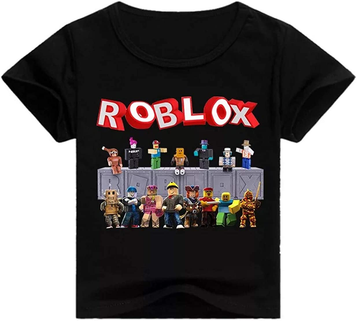Roblox Game Boys And Girls Ku Lee Unisex Roblox Game T Shirts Summer Short Sleeve Shirts For Boys Girls 2t 12 Years Black Amazon Ca Clothing Accessories