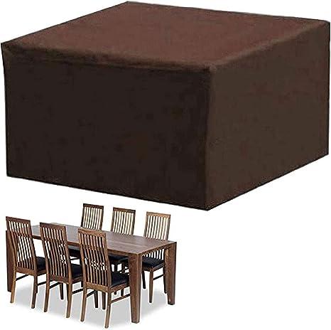 per tavolo da giardino antivento Copertura per mobili da giardino per patio resistente ai raggi UV resistente e impermeabile