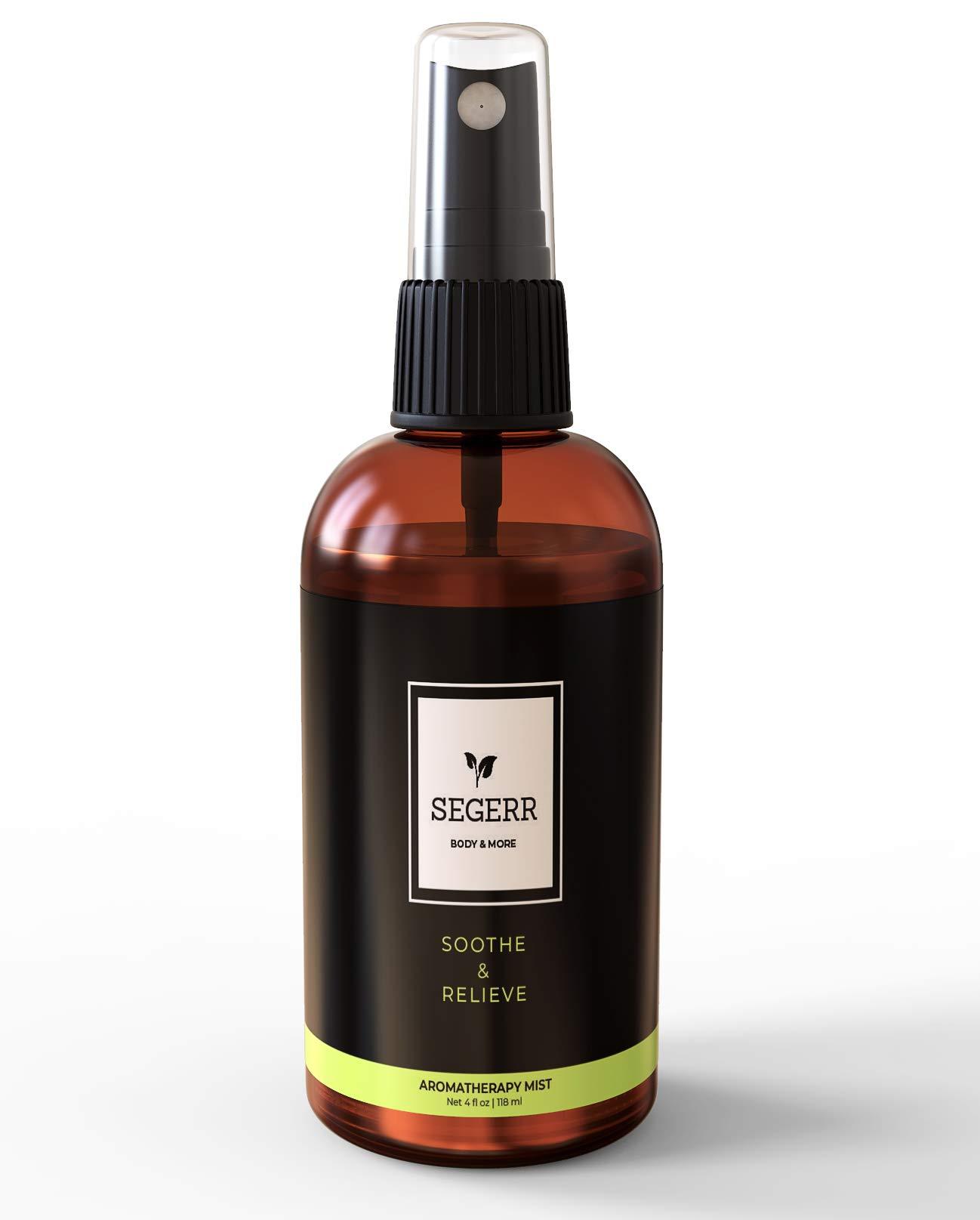 Eucalyptus, Lavender, Peppermint, Tea Tree, Cajeput Aromatherapy Mist - Shower Spray, Room Deodorizer. Spray on Pillows, Face Cloth, Linens, Bedroom (4 oz) by Segerr