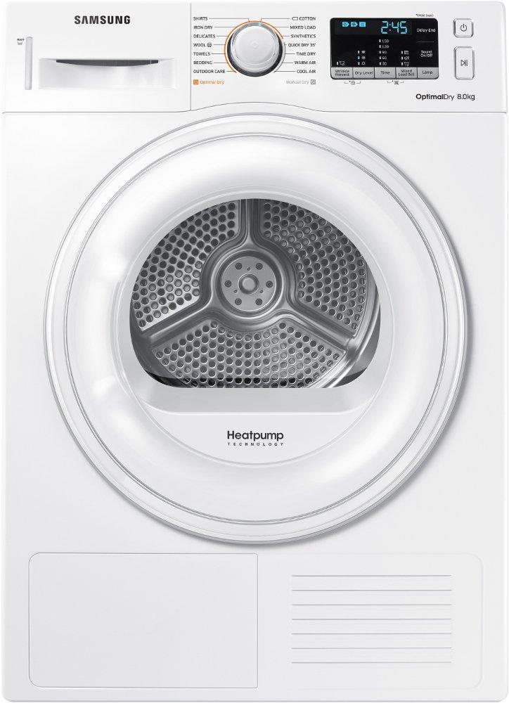 Samsung DV80M50101W Autonome Charge avant Blanc 8 kg A++ - Sèche-linge (Autonome, Charge avant, Pompe à chaleur, Blanc, Rotatif, Tactil, Droite)
