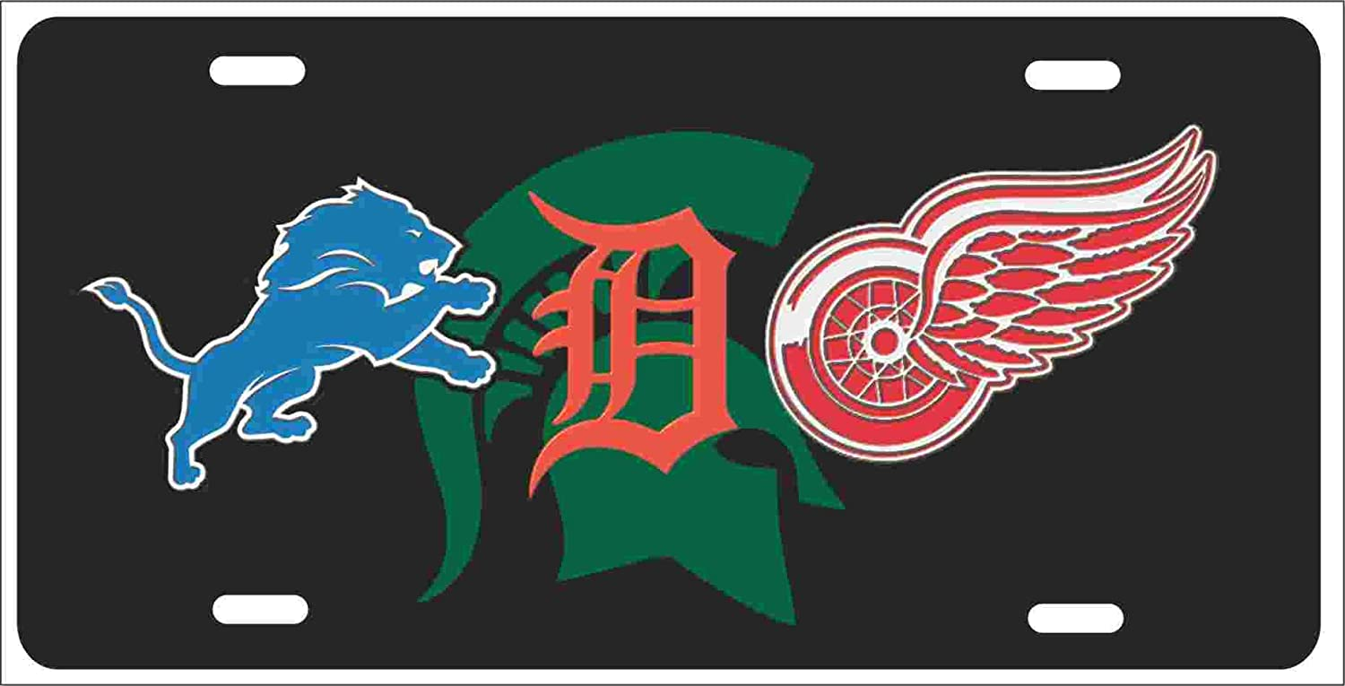 Amazon.com: Detroit Michigan Sport Teams Combined Logos Novelty ...