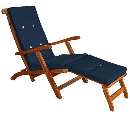 Deuba Coussin pour chaise longue 173 cm - Matelas Transat Bain de ...