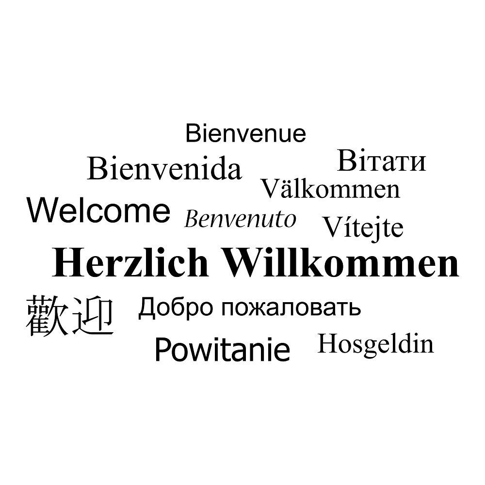 Kiwistar Herzlich Willkommen Wandtattoo in 6 Größen - Wandaufkleber Wall Wall Wall Sticker B00S50QJWU Wandtattoos & Wandbilder daa1c2