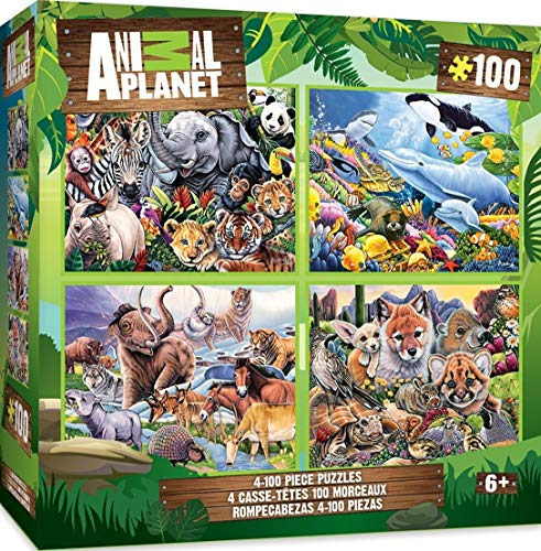 MasterPieces Animal Planet 4-pack Multipack 100 Piece Puzzles ()