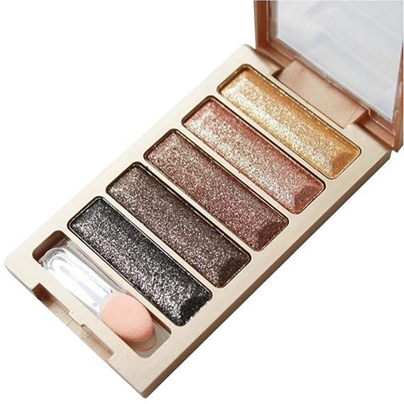 LANDFOX 5 del brillo del color del maquillaje de la gama de colores de sombra de ojos 3#