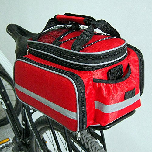 Review Disconano Waterproof Multi Function Excursion Cycling Bicycle Bike Rear Seat Trunk Bag Carryi...