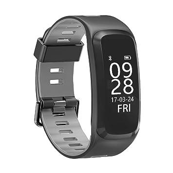 IP68 impermeable Fitness Tracker pulsera de actividad con pulsómetro ...