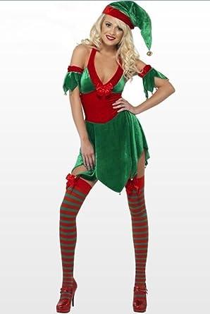 DZW Frauen Damen Weihnachten Leistung Kleidung Weihnachten Elf ...