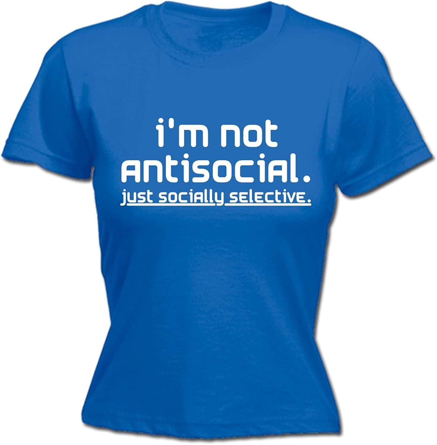 NOT ANTISOCIAL SOCIALLY SELECTIVE SWEATSHIRT funny rude top birthday gift 123t