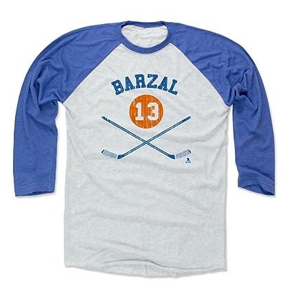 new style 78e97 9461b 500 LEVEL Mathew Barzal Baseball Shirt - New York Hockey Fan Gear - Mathew  Barzal New York I Sticks