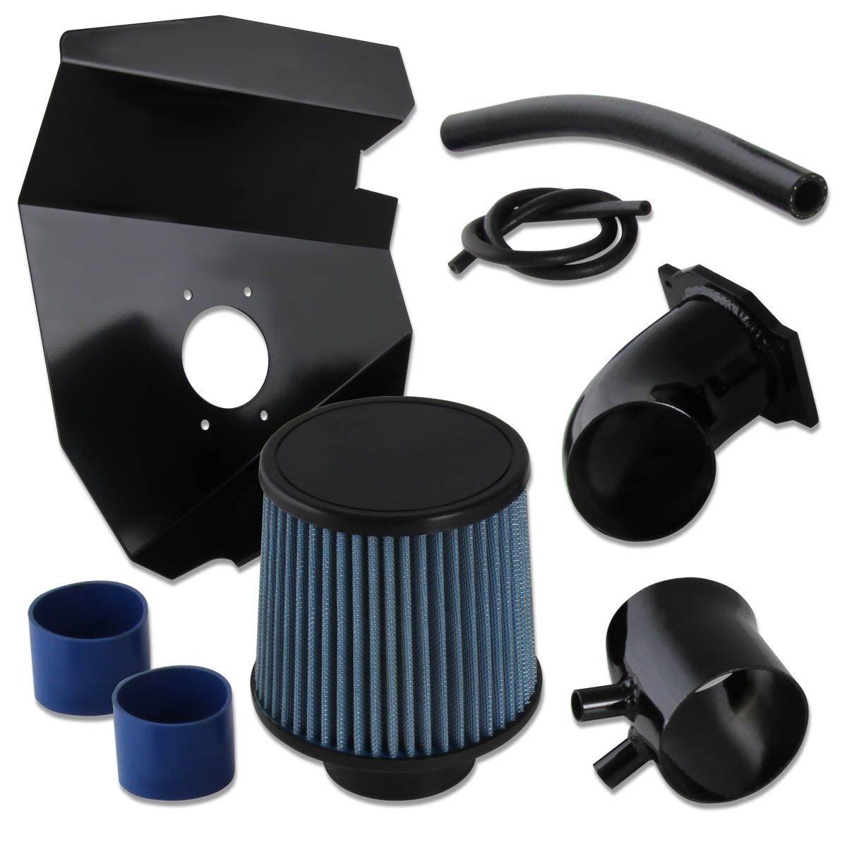 BLACK DRY AIR Filter Fit For 99-03 Frontier Xterra 3.3L High Air intake system
