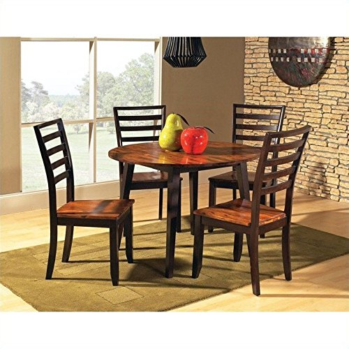 Steve Silver Abaco 5pc Round Dining Room Table Set In Acacia Buy Online In Antigua And Barbuda At Antigua Desertcart Com Productid 22471308
