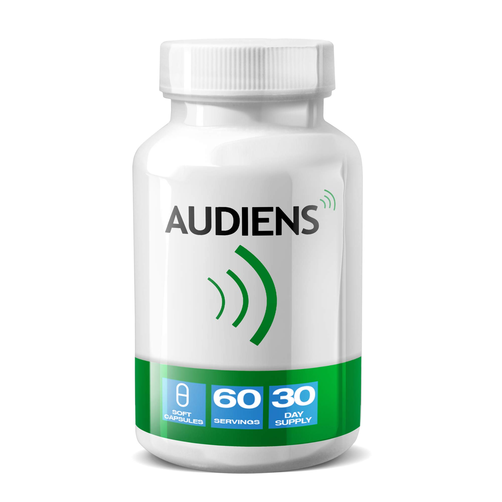 Tinnitus Relief for Ringing Ears - Natural Treatment to Improve Inner Ear Balance | Herbal Supplement & Remedy Designed to Reduce Subjective Tinnitus Symptoms by 40% | 90 Day Money Back Guarantee by Audiens - The Tinnitus Pill