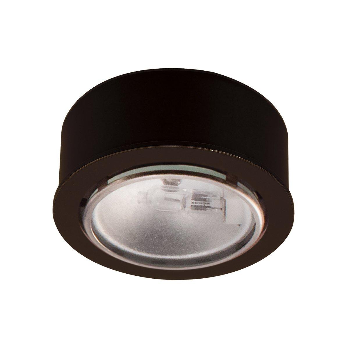 WAC Lighting 低電圧 円形 キセノン ボタン型 照明 HR-88-BK 1 B002951M8I ブラック|ハロゲン ブラック