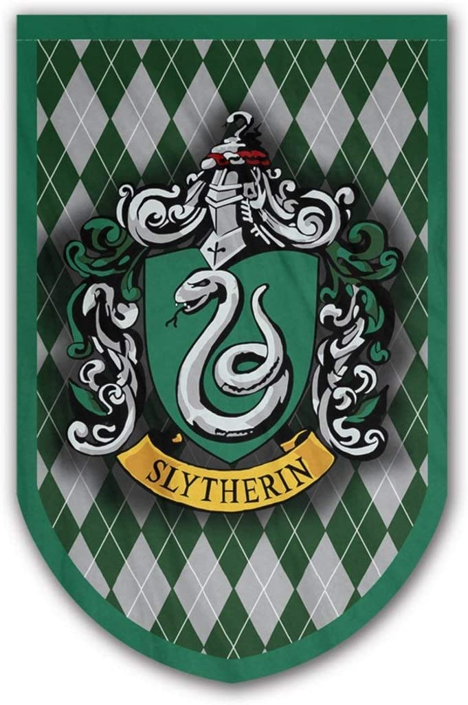Harry Potter Slytherin Banner - Slytherin Flag - Printed on Both Sides - Perfect Conditions for Outside - Amazing Gift for All PotterHeads - Unique HP Collectible Accessories (Slytherin)