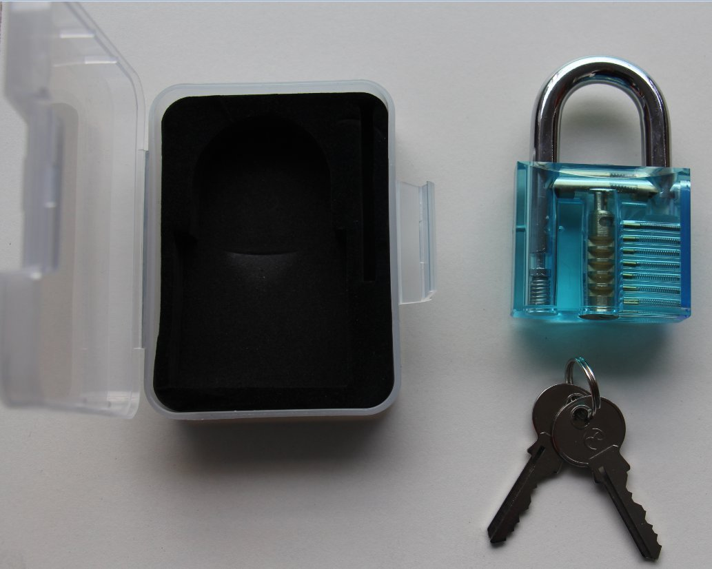 2016 New Product Exquisite Blue Practice Cutaway Padlock Home Door Lock