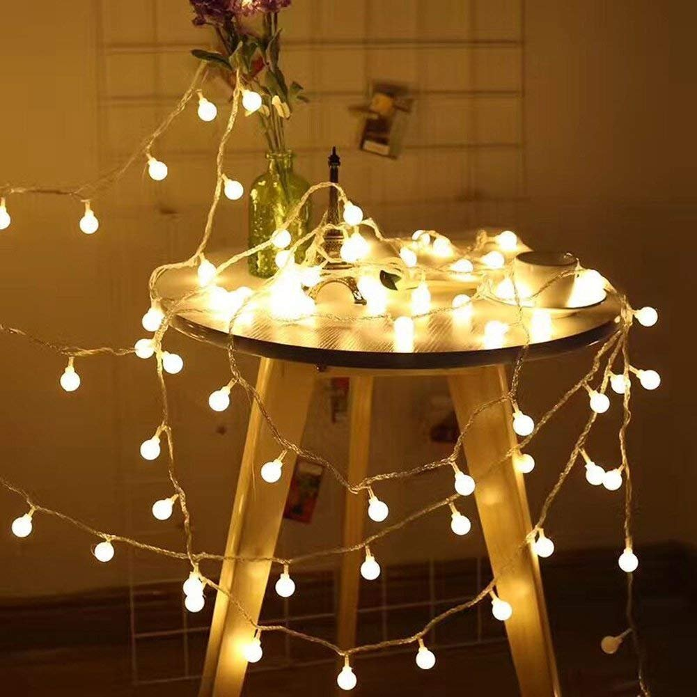 RaThun Globe String Lights, 49ft 100 LED Warm White Waterproof Decorative Fairy String Lights Perfect for Indoor and Outdoor Use,Plug in String Lights with 29V Low Voltage Transformer