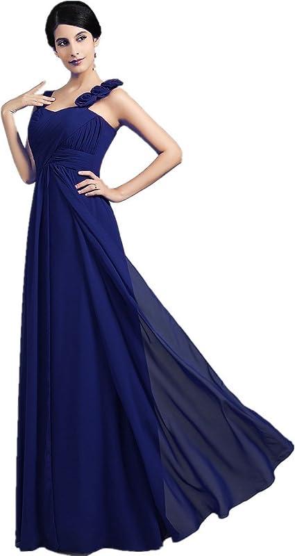 XIAOMING damska sukienka wieczorowa z szyfonu, kwiaty, sukienka dla panny młodej, długa: Odzież