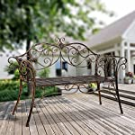 HLC-Metal-antique-garden-bench-Outdoor-Doubel-Seat-with-Decorative-Cast-Iron-Backrest