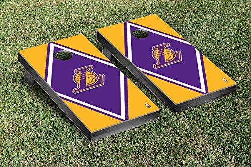 Los Angeles LA Lakers NBA Basketball Regulation Cornhole Game Set Diamond Version by Victory Tailgate