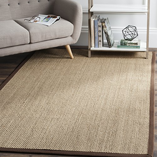 Safavieh Natural Fiber Collection NF141C Tiger Paw Weave Maize and Brown Sisal Area Rug (4' x 6')