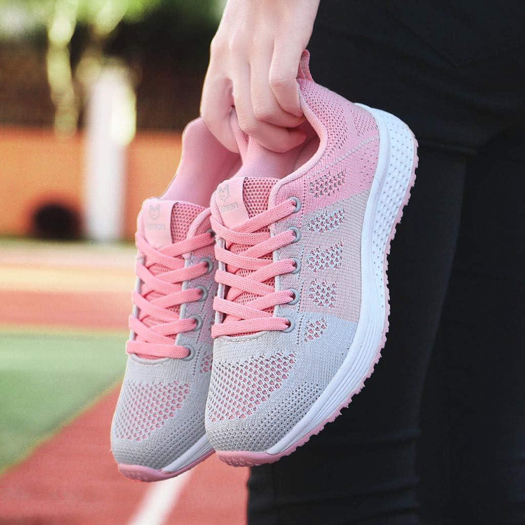 Zapatillas Deportes Mujer Running Casual Zapatos de Fitness Exterior Sneakers Ligero Transpirable