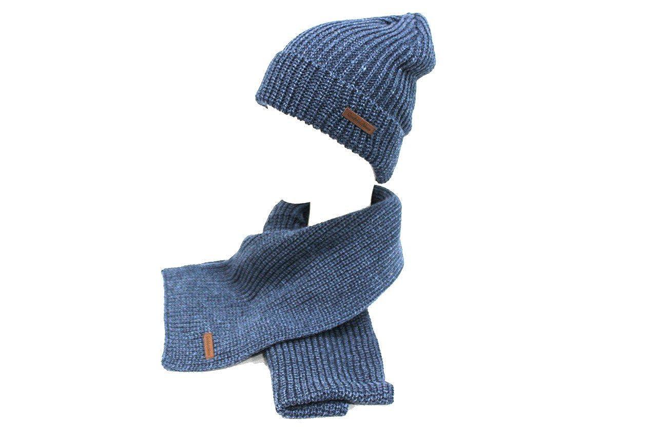 Sciarpa e cappello uomo linea coordinati Gian Marco Venturi 79608 blu