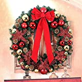 Christmas Rattan Wreath Door decoration Hotel Christmas Ornament ( Size : 85cm )