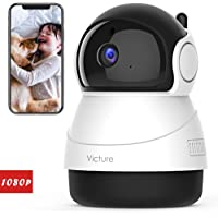 Victure 2020 Upgraded 1080P Pet Camera, FHD 2.4G WiFi Camera with Smart Motion Detection/Tracking, Sound Detection, Two…
