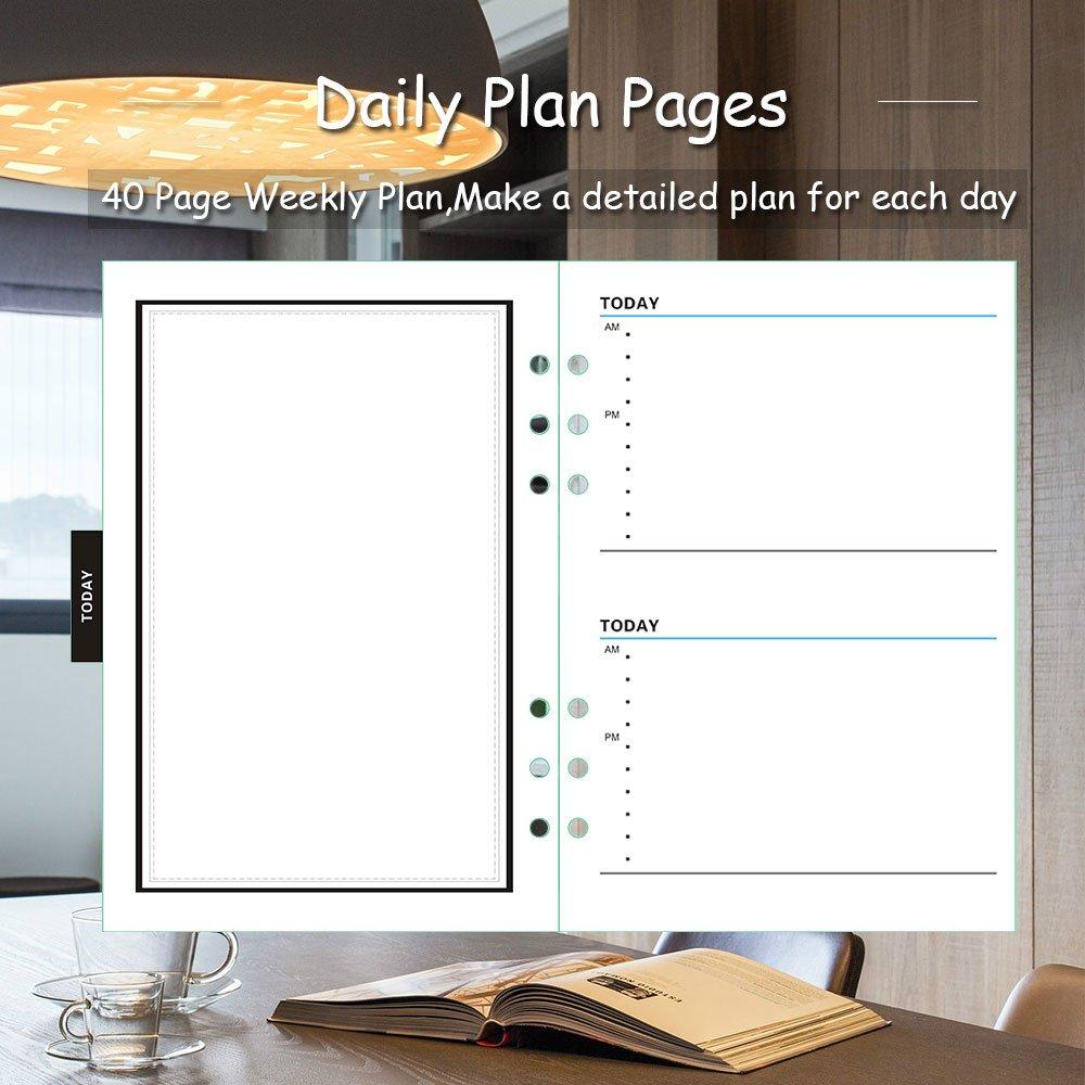 Felt Cover Planner 2018-2019 Planificador académico, Agenda diaria, semanal y mensual, Calendario de 3 años, Gestión del tiempo (Gris)