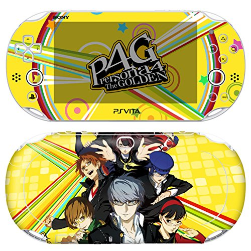 Premium Skin Decals Stickers For PlayStation VITA Slim 2nd Generation PCH-2000 Series Consoles Korea Made - POP SKIN Persona #04 + Free Gift Screen Protector Film + Wallpaper Screen Image ()