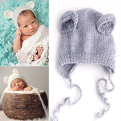 Parit Crochet Knit Newborn Baby Costume Photo Girls Boys Outfits Props Hat Cute Unisex (Robin Outfit For Babies)