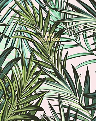 2019 Planner: Daily, Weekly, Yearly Calendar Organizer Agenda (January 2019 to December 2019) Tropical Palm Trees