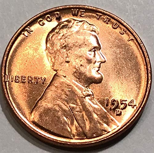 1955 D   Lincoln  Wheat  Cent BU  Red  Nice  US  Coin  Combined   Shipping
