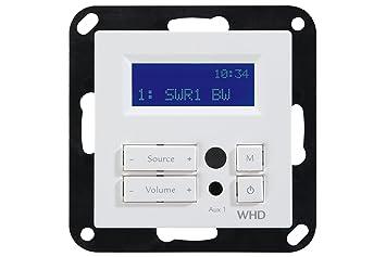 WHD Unterputz Einbauradio mit RDS, Display und Fernbedienung, Weiß ...