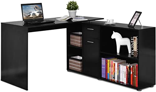 Tangkula L Shaped Desk Corner Desk