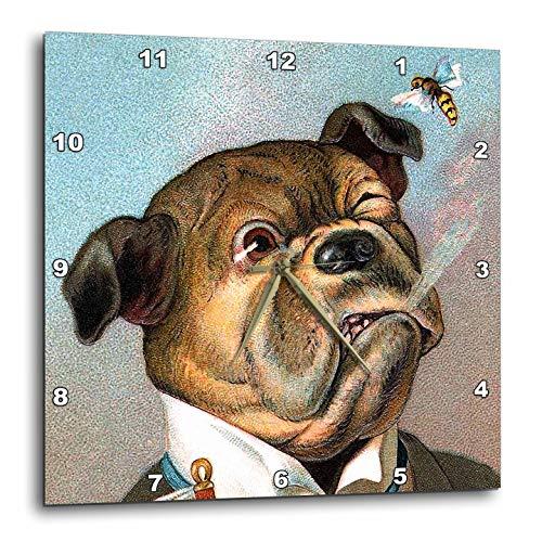 3dRose VintageChest - Dogs - The Aristocrat - 13x13 Wall Clock (DPP_302598_2) ()