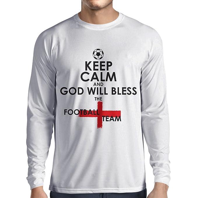 Camiseta de Manga Larga para Hombre El Equipo del Fútbol de Inglaterra, Copa del Mundo Rusia 2018 - Admirador de Equipo del Fútbol Inglés: Amazon.es: Ropa y ...