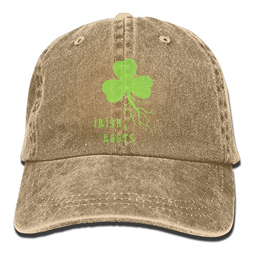 Hat Baseball Irish (Buyiyang-01 Men's Or Women's Irish Shamrock Roots Denim Jeanet Baseball Hat Adjustable Street Rapper Hat)