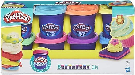 Play-Doh Hasbro A1206EU6 Pack De 8 Mini Botes Plus, 28 g cada una ...