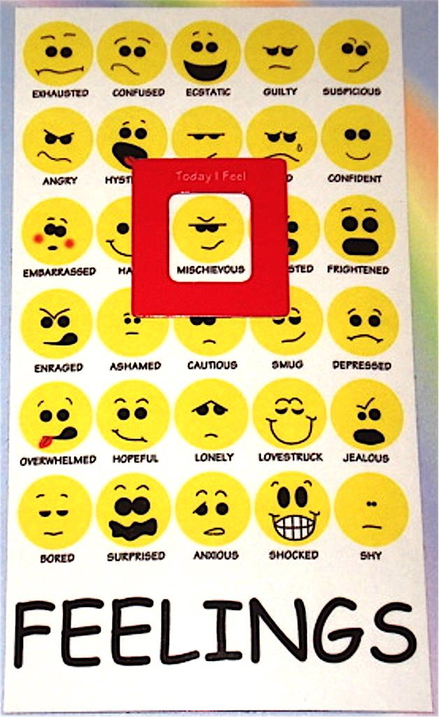 AmazonCom Mood Magnet  Feelings Chart Emotions Moods Emoticons