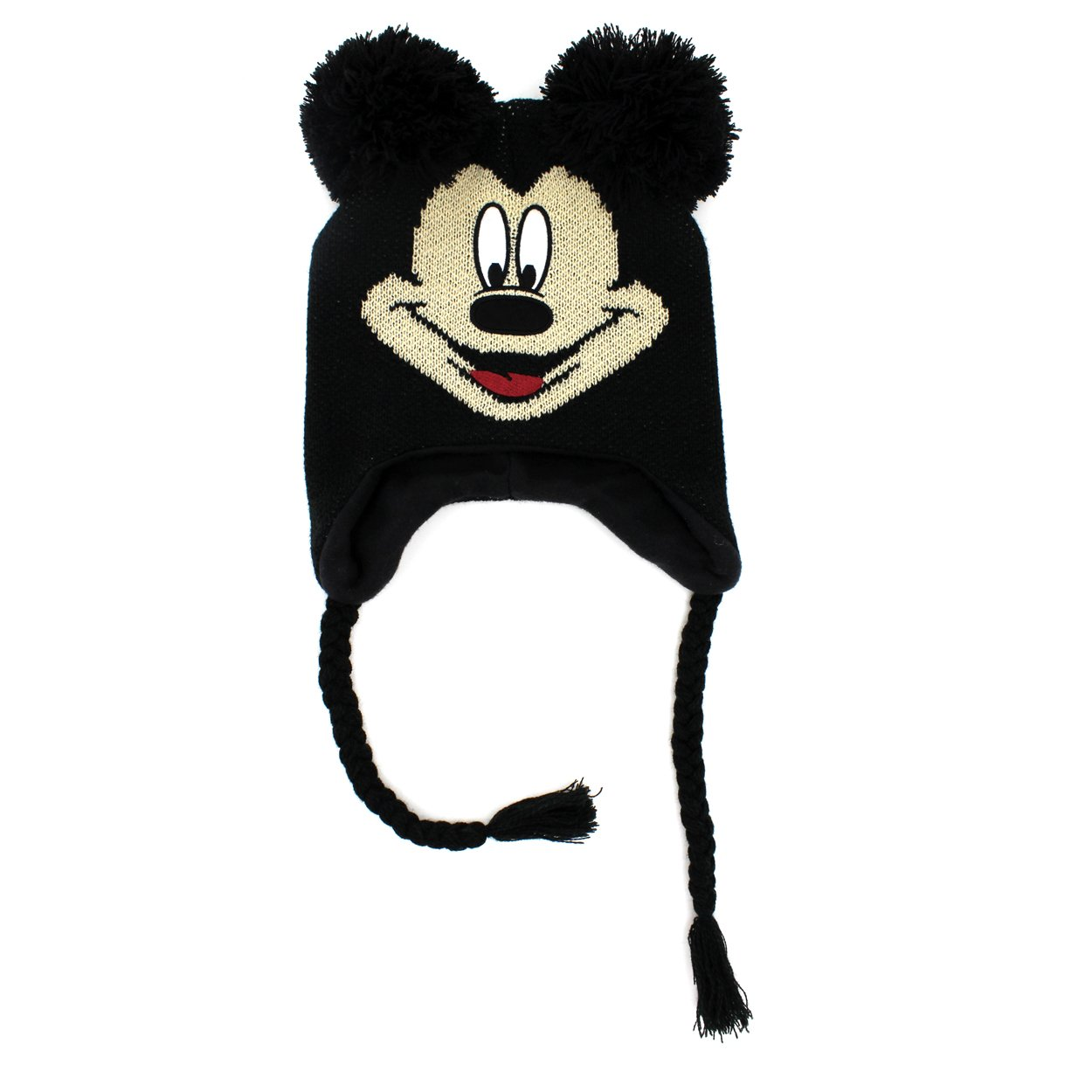 Amazon.com  Disney Mickey Mouse Youth Laplander Hat (Black Mickey Mouse)   Clothing 99cad6198f0