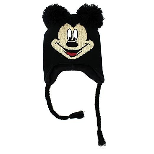ccf2a21184c Amazon.com  Disney Mickey Mouse Youth Laplander Hat (Black Mickey Mouse)   Clothing