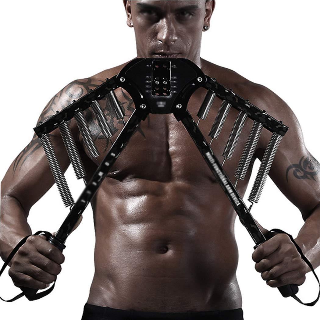 調整可能な多機能アームエクササイズ胸筋グリップバーフィットネス機器エクササイズアームマッスルアームバー  黒 B07NQJNCMS