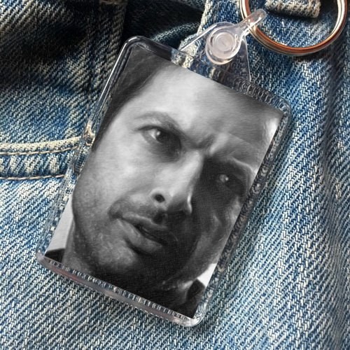 - JEFF GOLDBLUM - Original Art Keyring #js002
