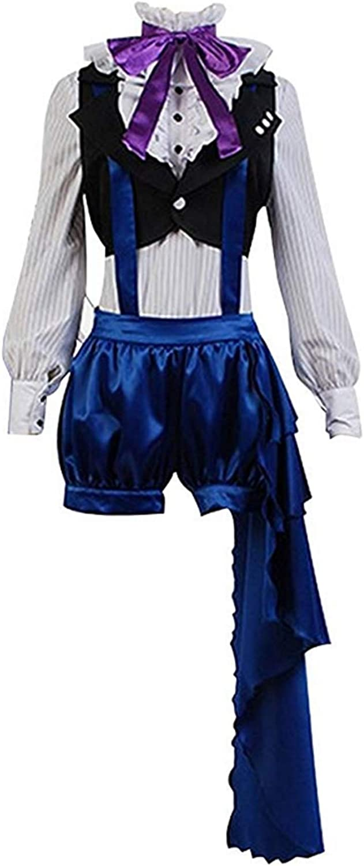 Disfraz de Anime japonés Ciel Phantomhive Cosplay Blanco Camisa Negro Chaleco Azul Pantalones: Amazon.es: Ropa y accesorios