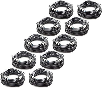 2 Pack 100/' DMX Cable XLR 3 Pin 100 Feet Seismic Audio DJ Lights Lighting