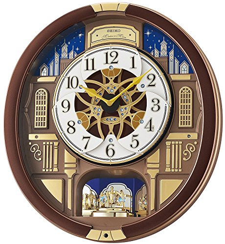 - SEIKO Melodies in Motion Musical Wall Clock with Rotating Pendulum